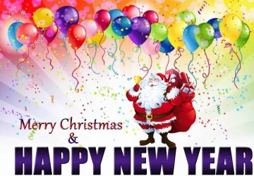 Merry Christmas And Happy New Year Wishes Image Wallpaper For Iphone