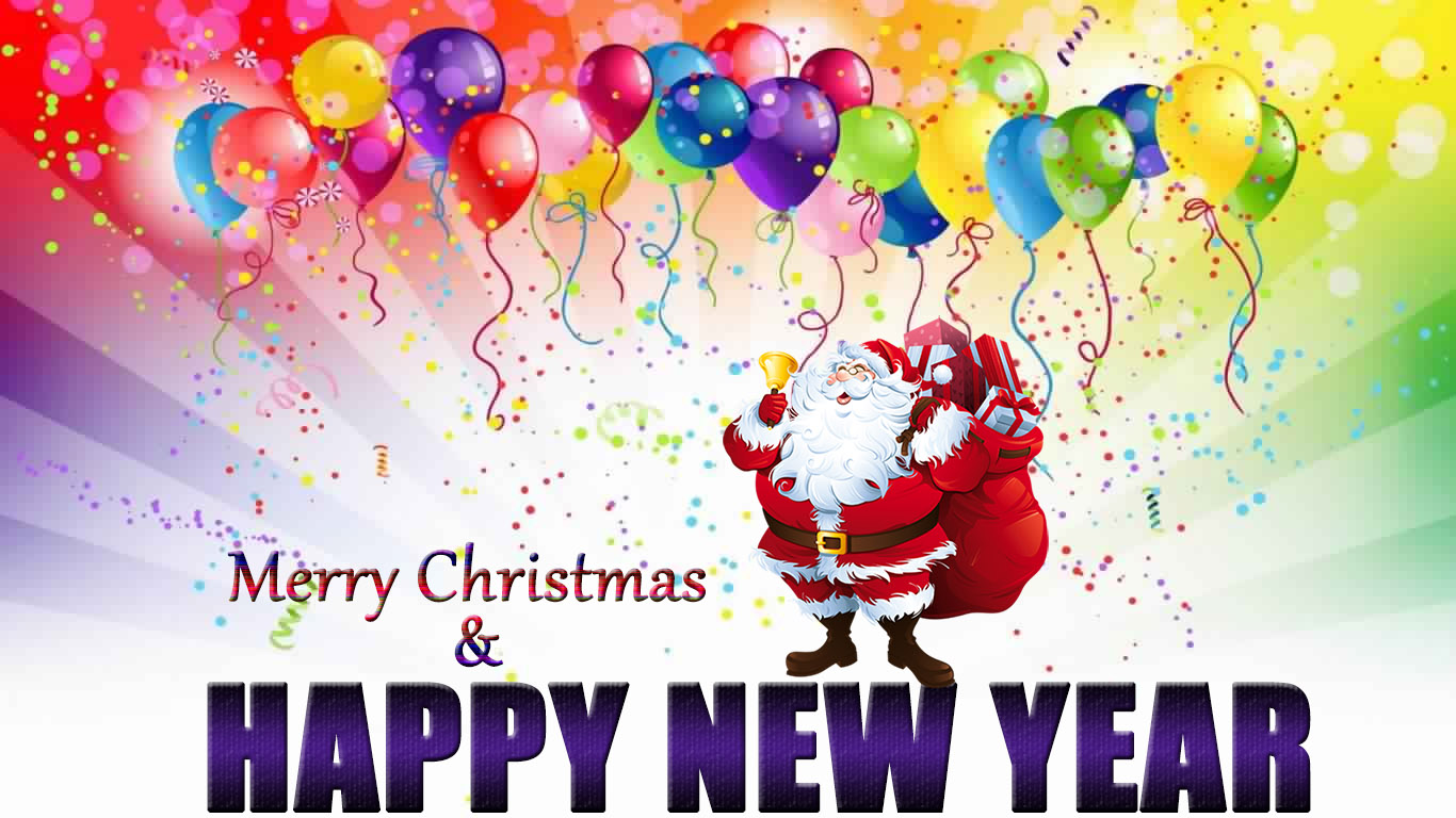Merry Christmas And Happy New Year Wishes Image Wallpaper For Iphone ...