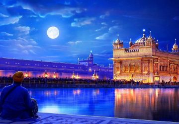 The Golden Temple At Night In Amritsar India 1366×768 Wallpaper