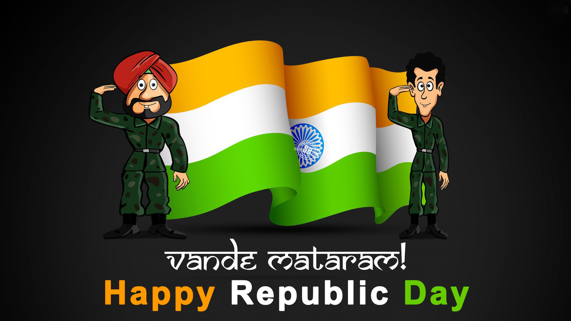3d Happy Republic Day Wishes Wallpaper Free Download