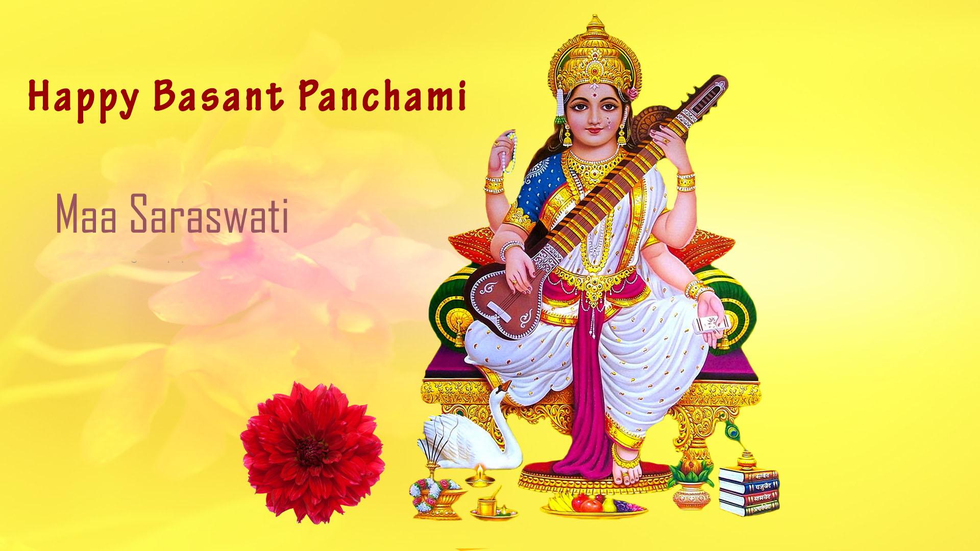 Basant Panchami Images With Maa Saraswati