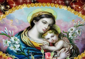 Beautiful 3d Hd Image Of Mother Mary And Baby Jesus