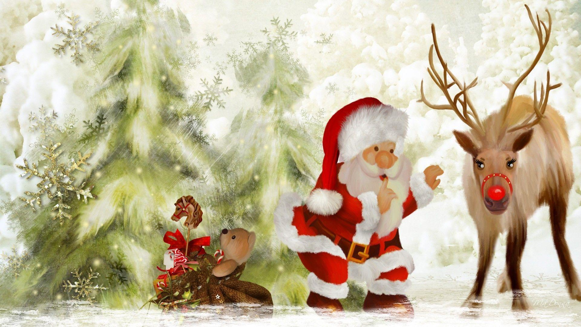 Beautiful Santa Wallpaper 1920×1080