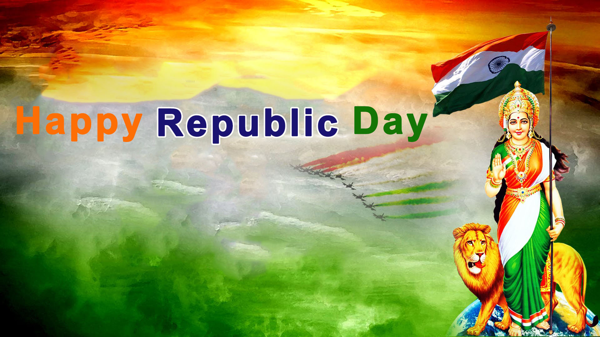 Bharat Mata Flag Beautiful Hd Wallpaper Republic Day 26th January