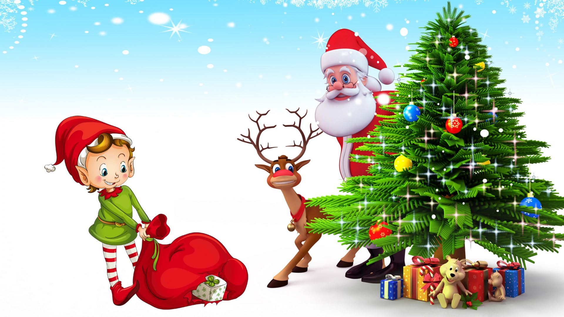 Funny Santa Cartoon Images