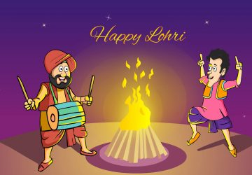 Happy Lohri Cartoon Pictures