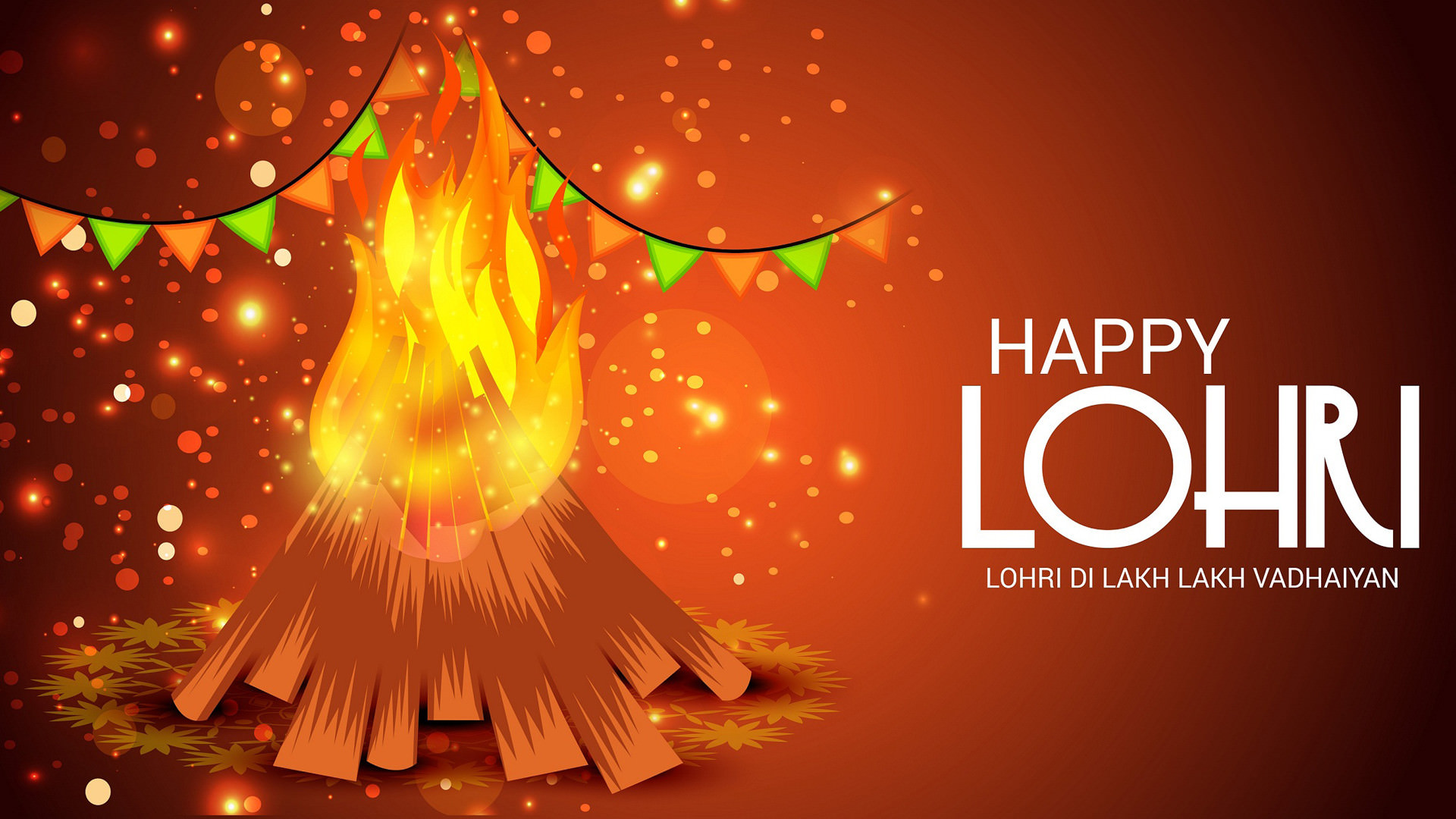 Happy Lohri Festival Wallpapers Free Download Wishes