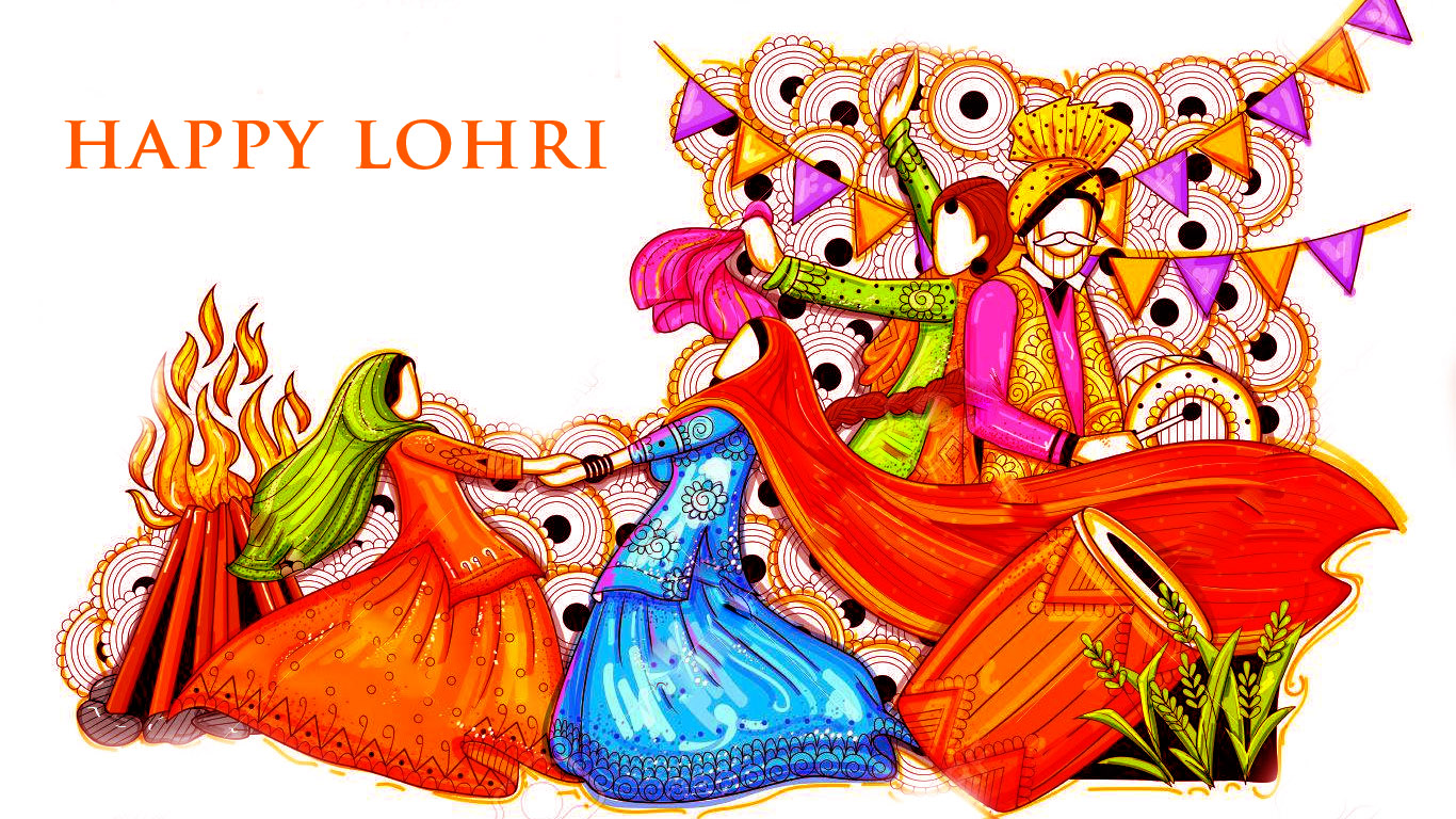 Happy Lohri New Colorful Images