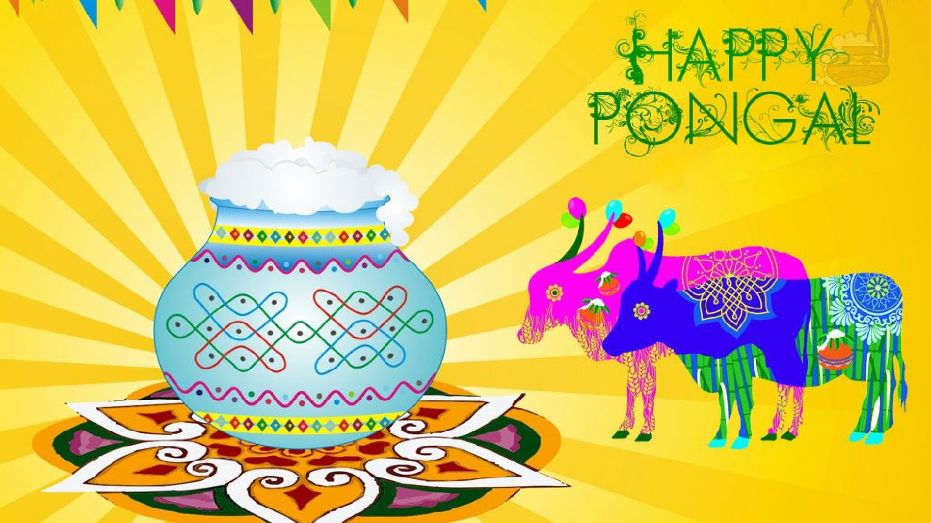 Happy Pongal Quotes Wallpapers High Resolution 1920×1080