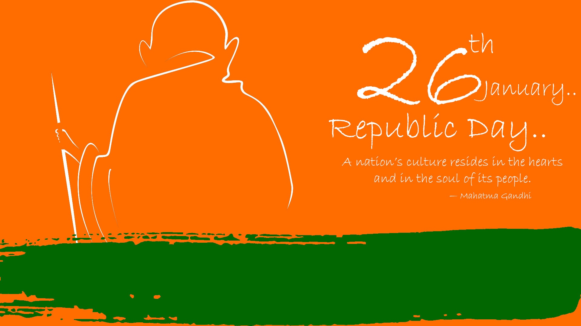 Happy Republic Day 2019 With Mahatma Gandhi Hd Wallpapers