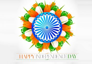 Happy Republic Day Flowers Orange White Green Image