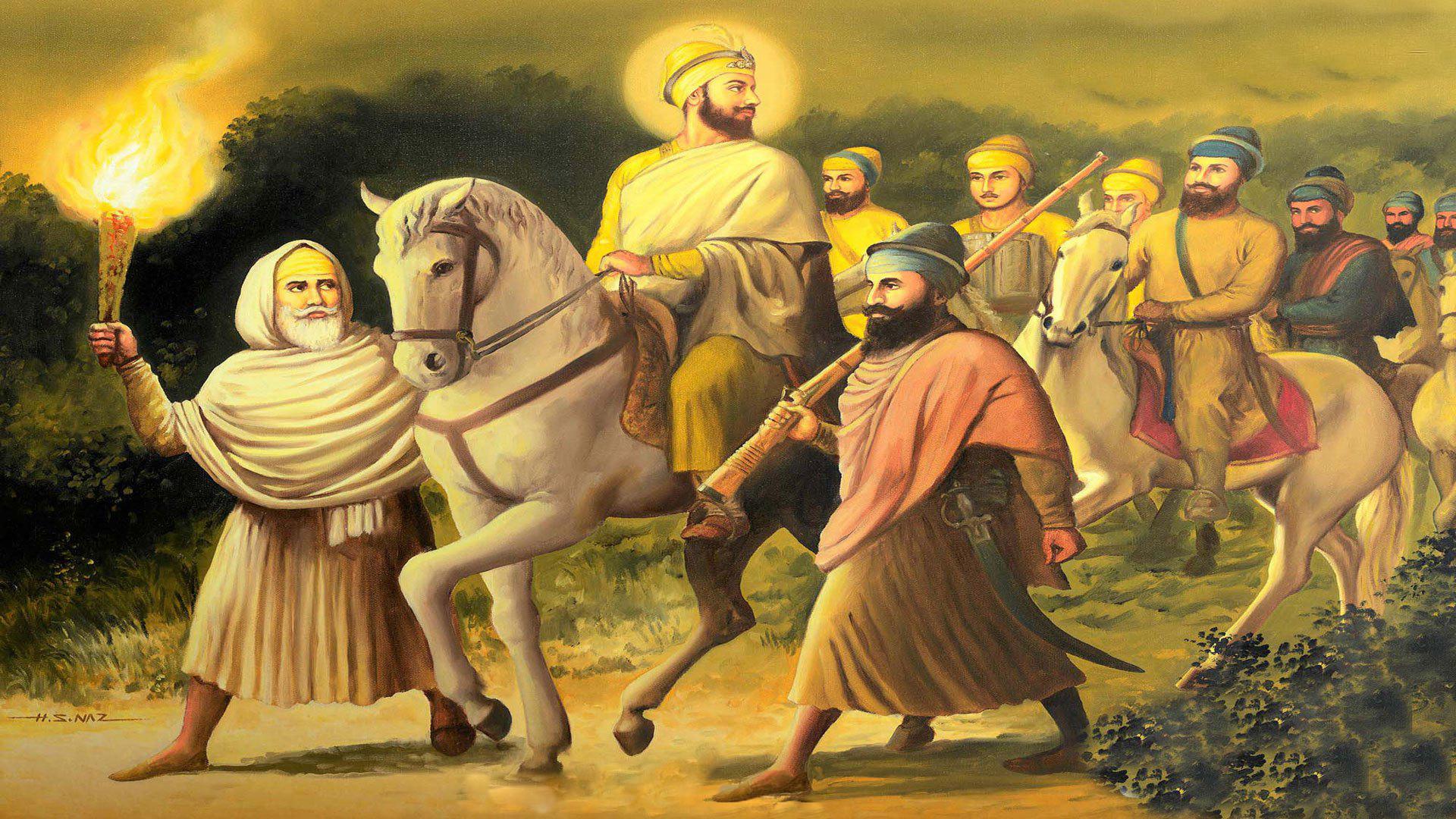 Images Of Guru Gobind Singh Ji With Chaar Sahibzaade