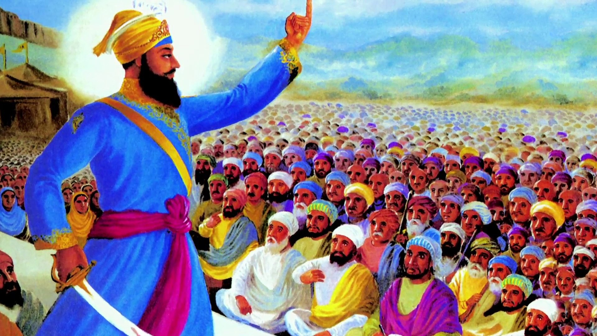 Images Of Guru Gobind Singh Ji With His Family