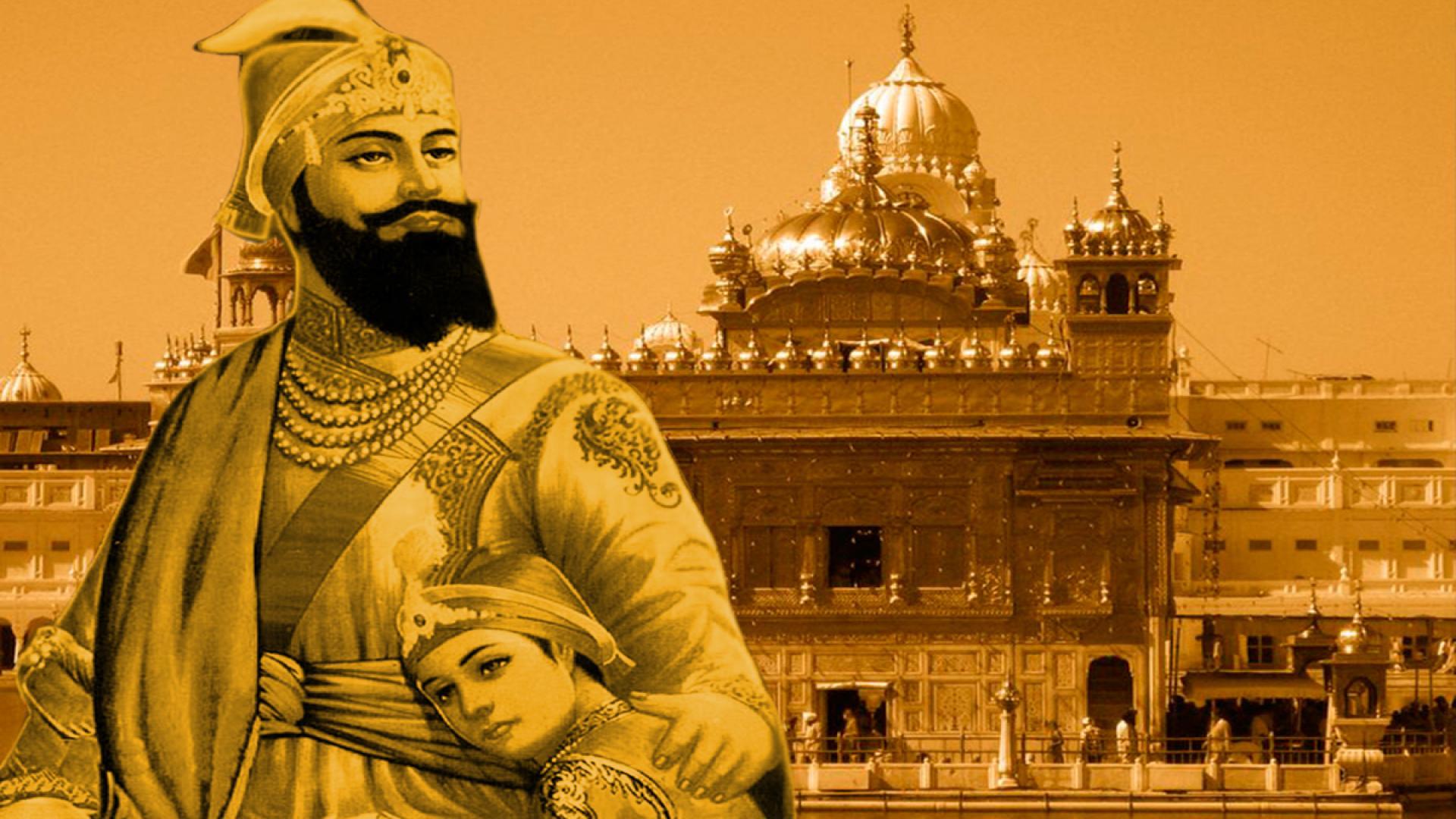 Images Of Guru Gobind Singh Ji With His Sons