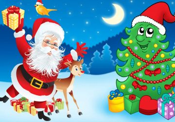 Images Of Santa Claus And Christmas Tree Hd