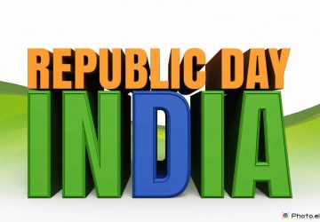 India Republic Day Image With Saffron Green Blue Colors 26 January