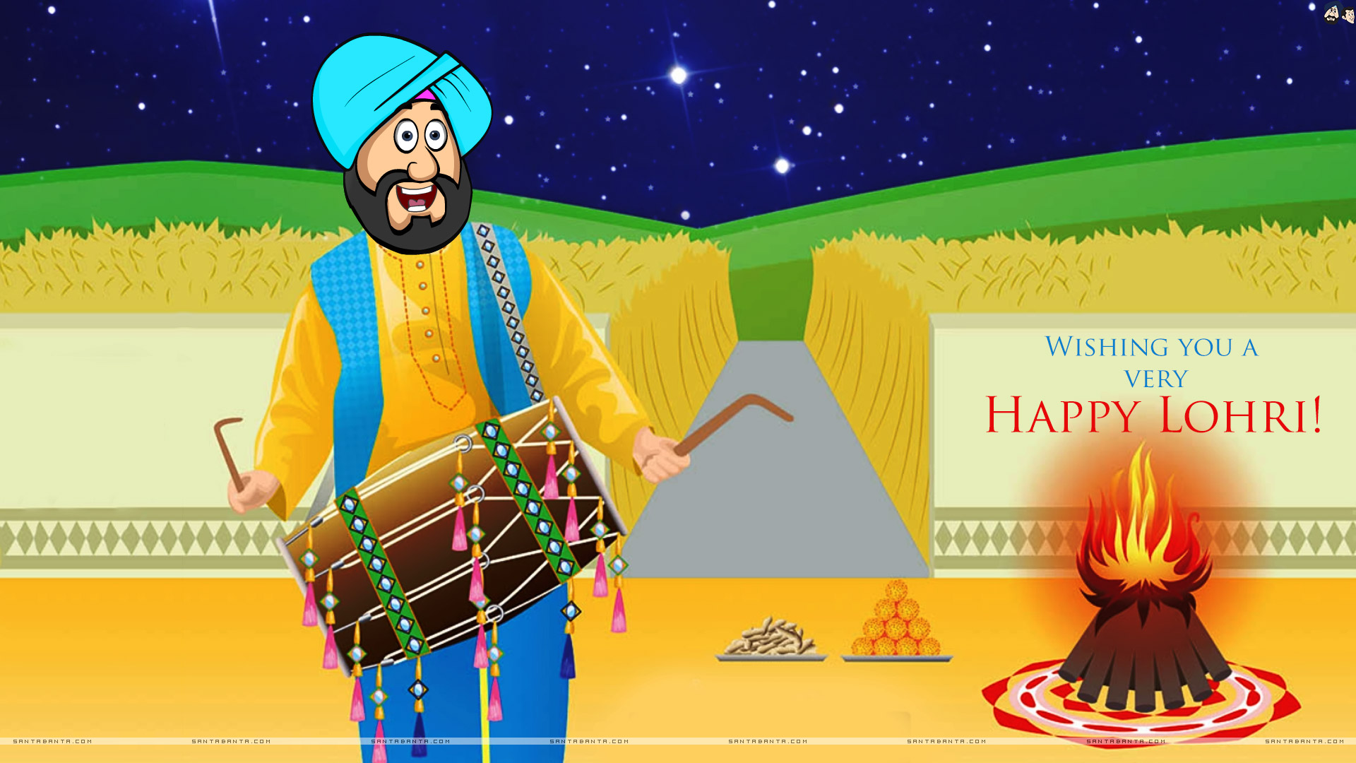 Lohri Wishes Hd Images Download