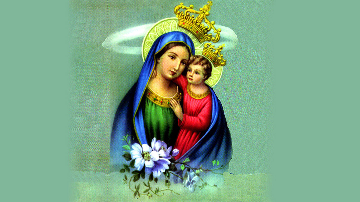 Mother Mary With Baby Jesus Hd Wallpaper Free Download