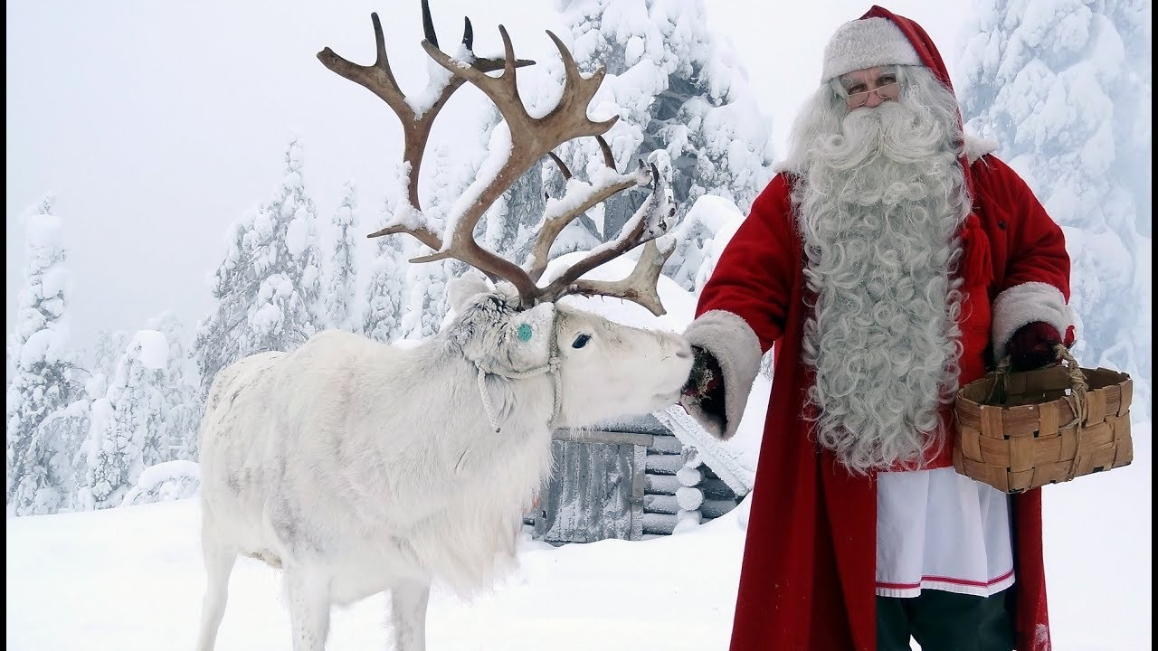 Santa And His Reindeer Silhouette