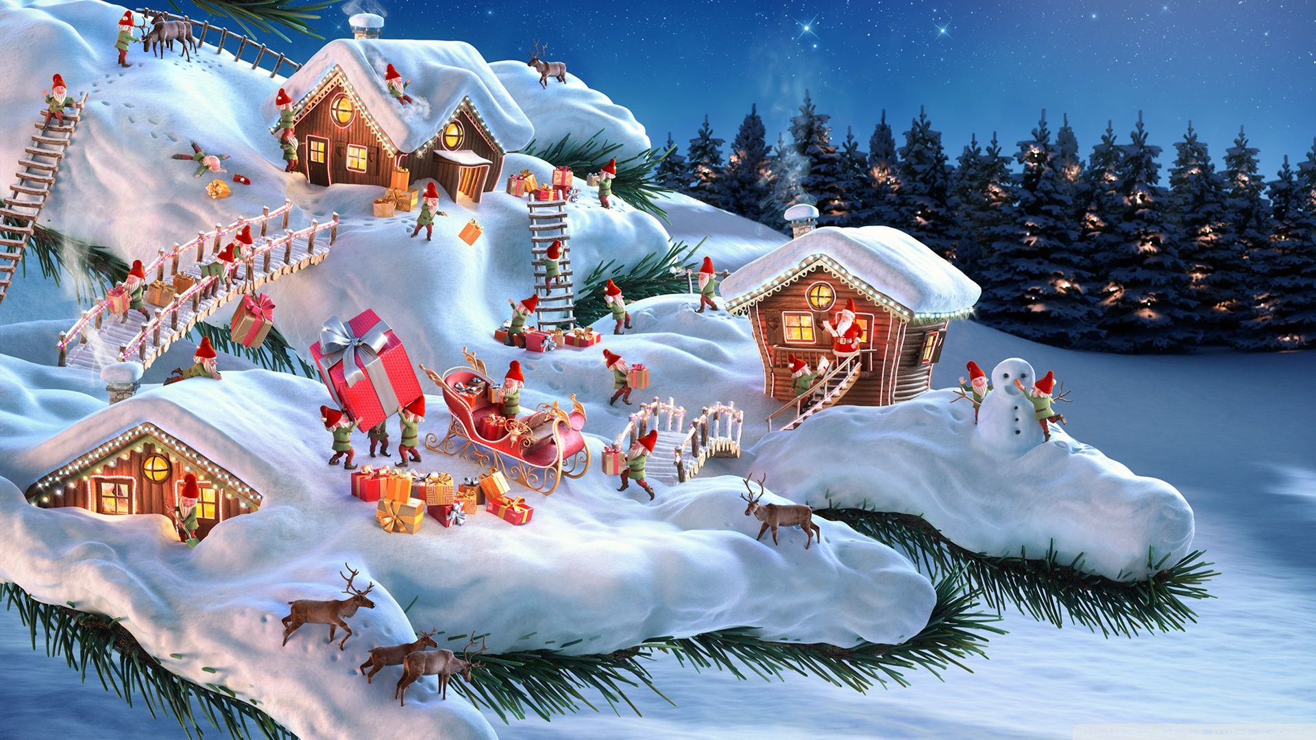 Santa Claus Desktop Wallpaper 1920×1080 High Resolution