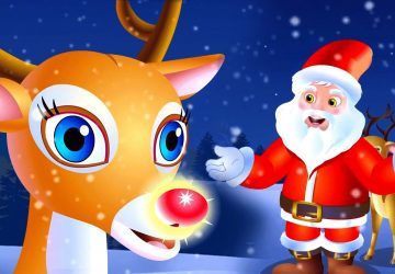 Santa Claus With Reindeer Wallpaper