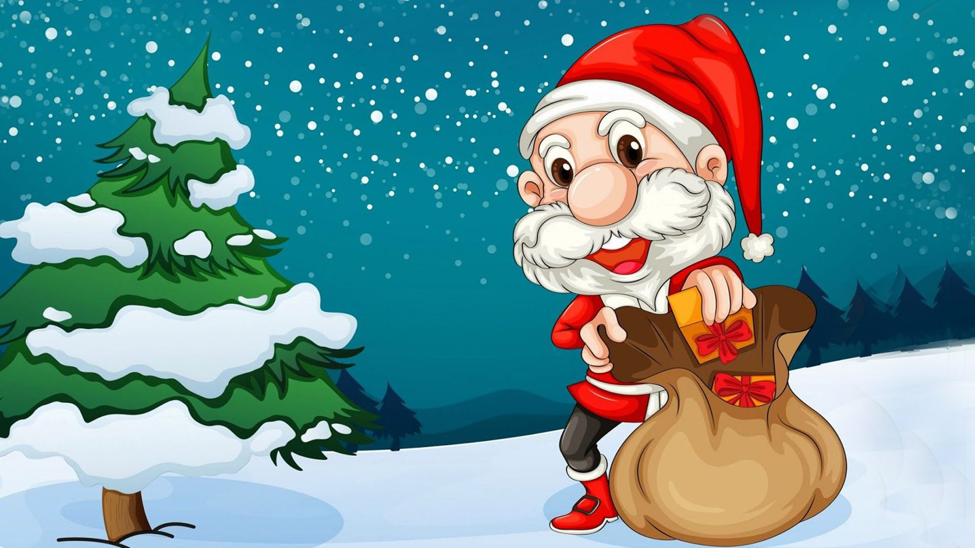 Santa Pictures Cartoon