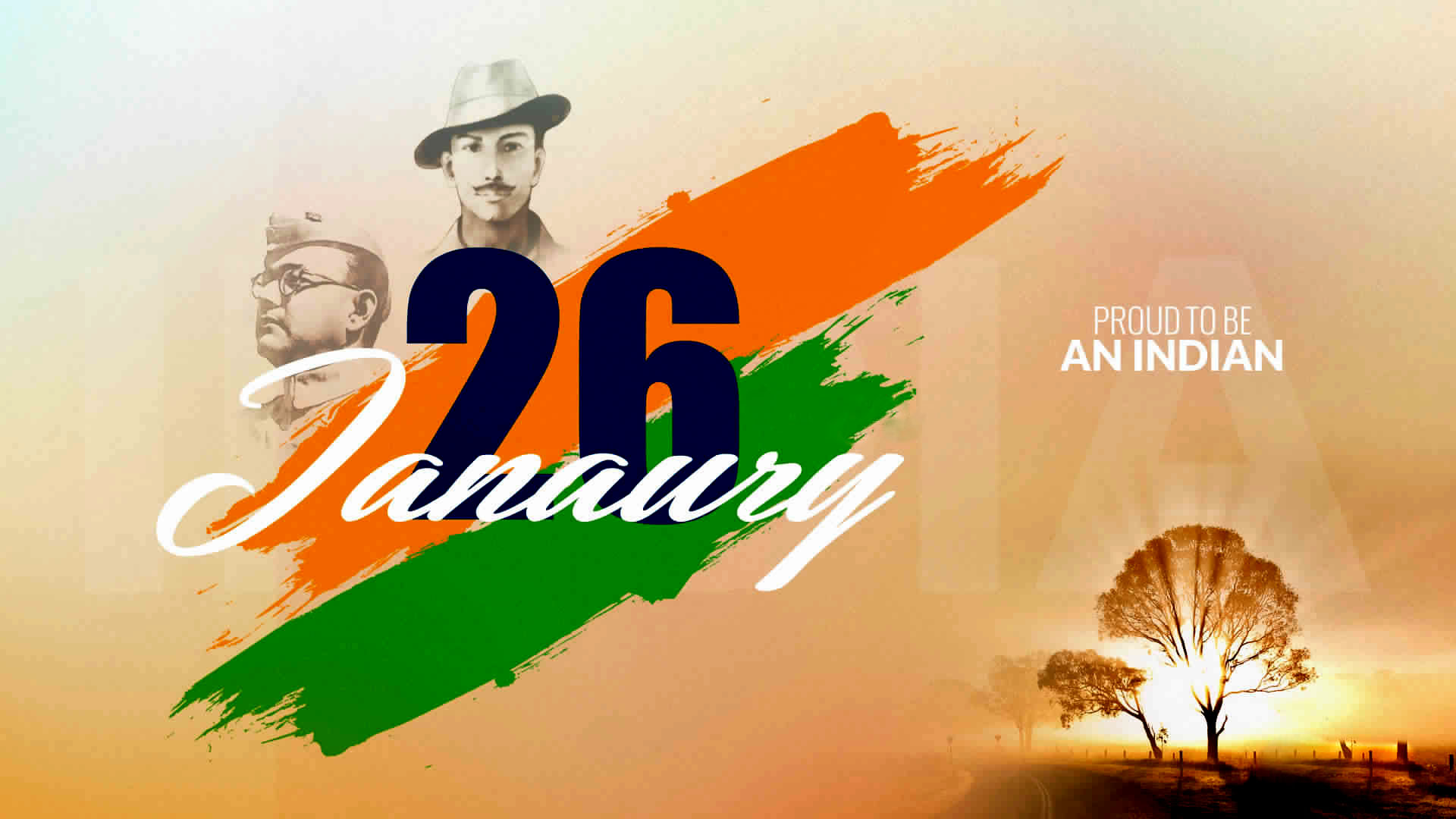 Subhash Chandra Bose Republic Day Wallpaper 2013