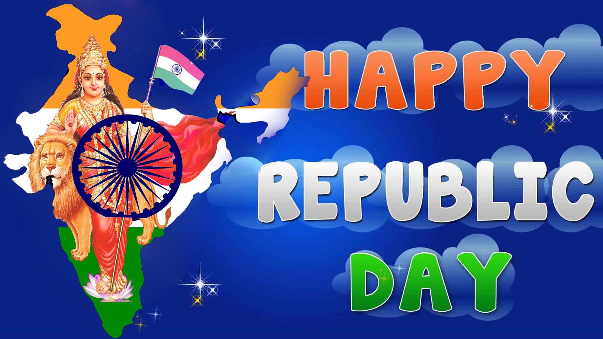 Top Bharat Mata Indian Flag Full Hd Wallpapers Republic Day