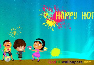 Cartoon Images Of Holi Festival In India