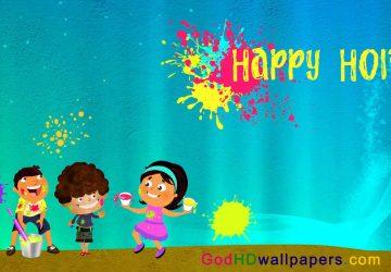 Cartoon Images Of Holi Festival In India