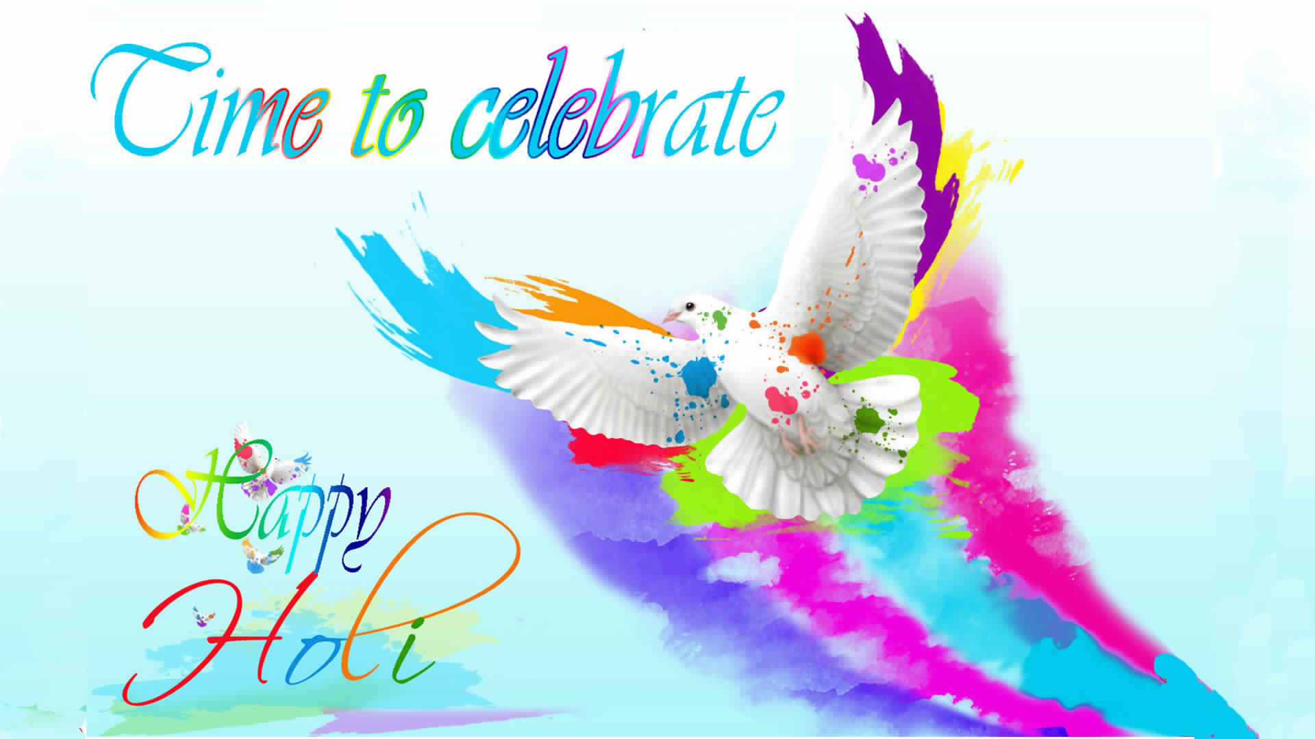 Happy Holi Dhuledi 2019 Hd Colorfull Wallpaper Facebook Whatsapp Image