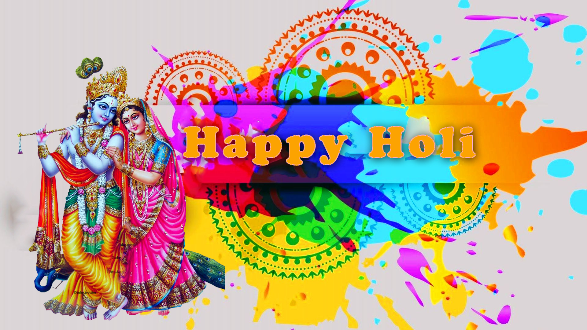 Happy Holi Love Sms Wishes Quotes Image