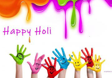 Happy Holi Rainbow Colors Hands Picture