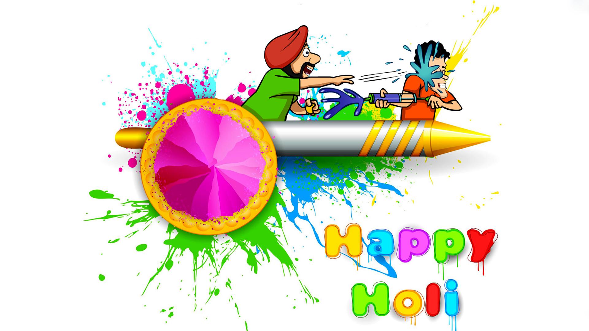 Happy Holi Wallpaper Santabanta
