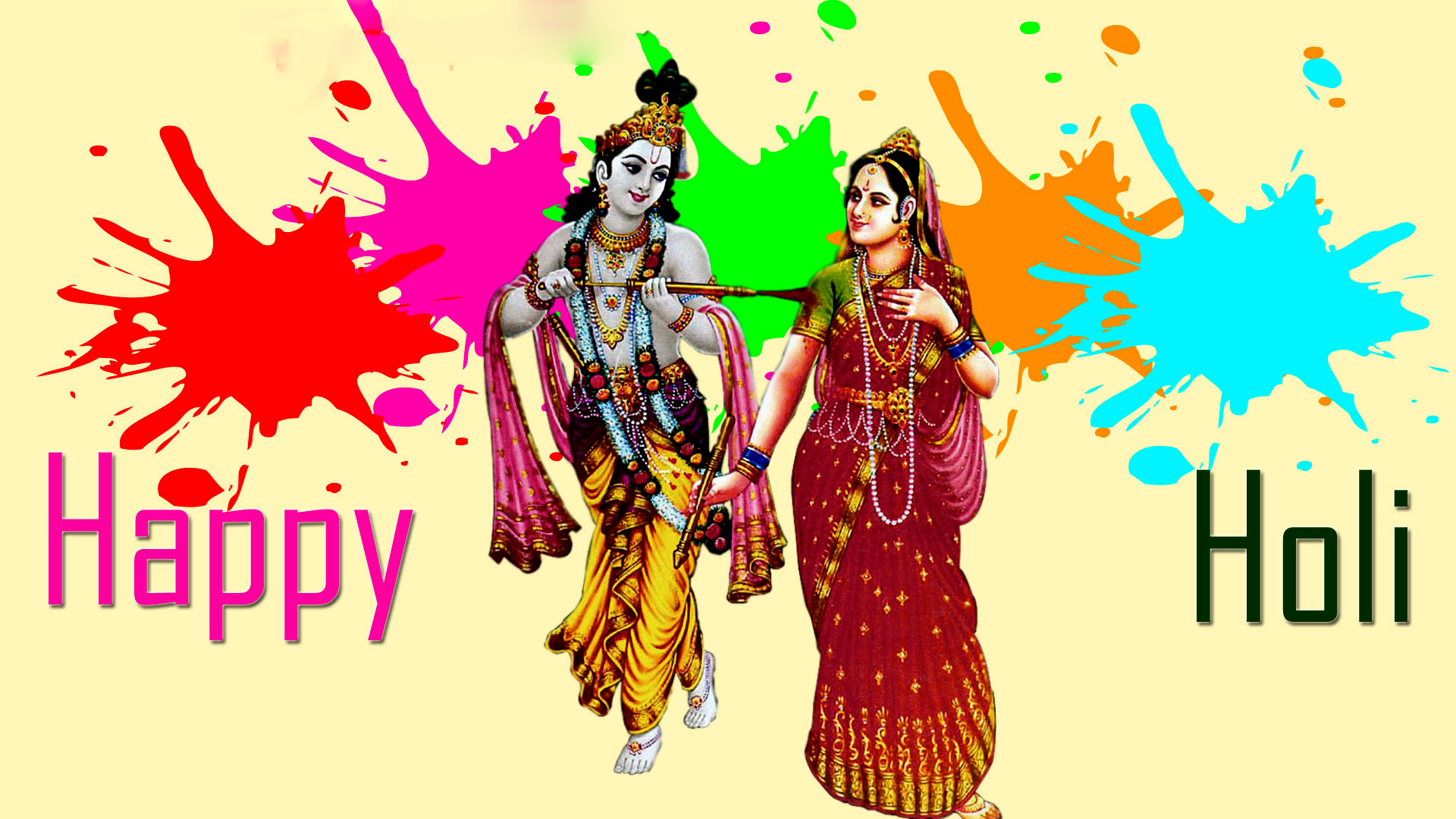 Holi Pictures Of Radha Krishna