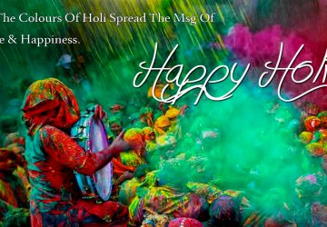 Peace And Happiness Message On Happy Holi