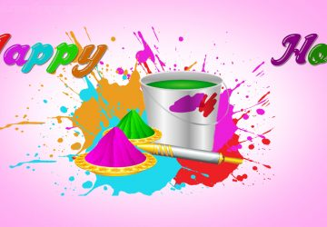 Water Color In Bucket Happy Holi Hd Wallpaper