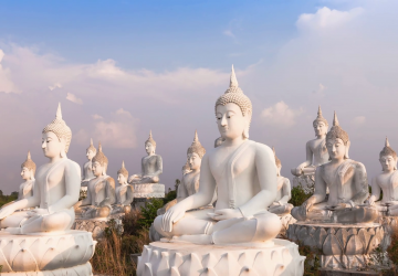 Buddha 4k White Image Thailand High Quality Wallpapers