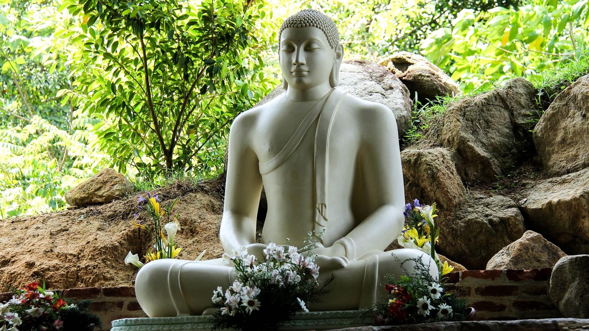 Sri Lanka Tete Bouddah Sagesse Orientale Spiritualite Imaget 1080p